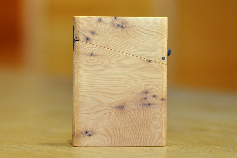 木の名刺入れ:一位(イチイ) No.1