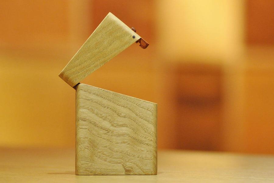 木の名刺入れ:栗(くり)