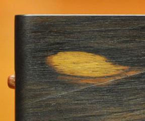 木の名刺入れ:アフリカンブラックウッド No.4