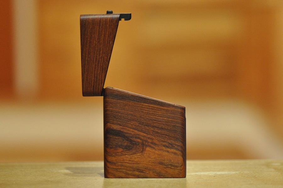 木の名刺入れ:パーロッサ