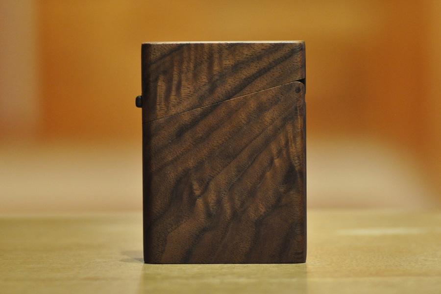 木の名刺入れ:アメリカンブラックウォールナット