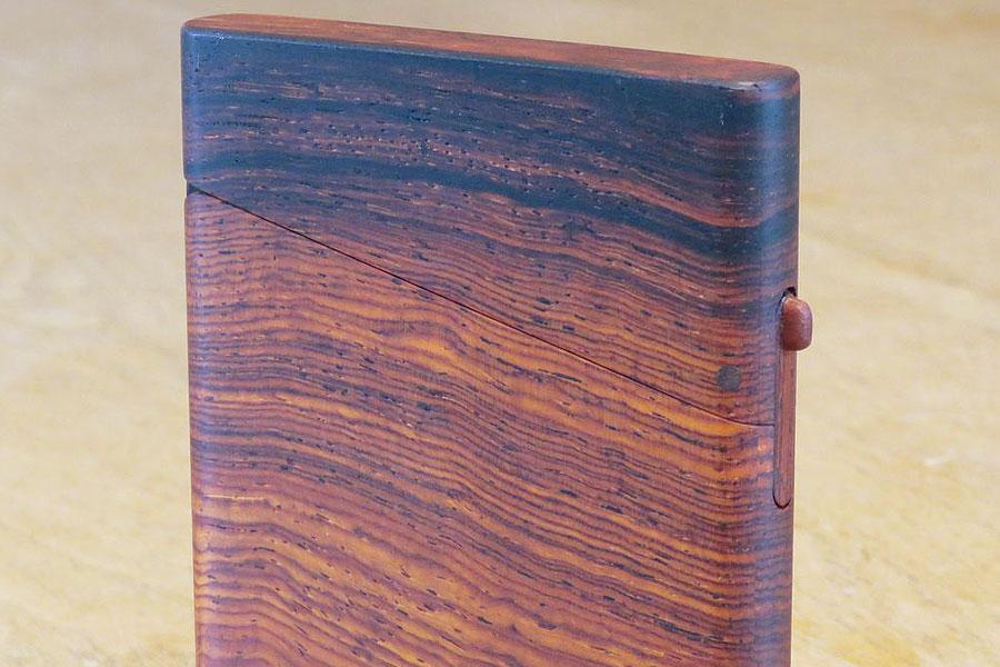 木の名刺入れ:本紫檀(ホンシタン)
