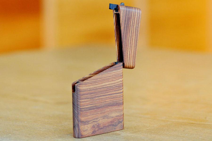 木の名刺入れ:パーロッサー